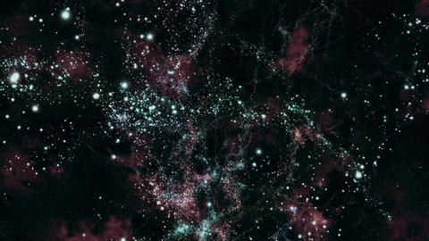 Space 2191: Traveling through star fields in deep space Animation