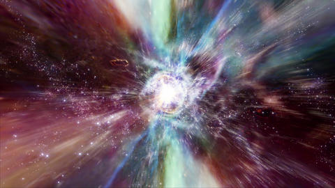 Space 2202: Traveling through star fields and galaxies in deep space Videos animados
