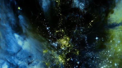 Space 2204: Traveling through star fields in deep space Animation
