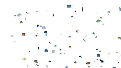 Confetti CG Party Cracker Wind Animation