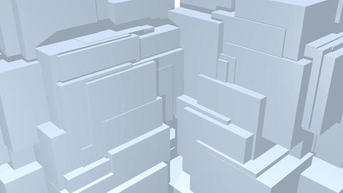 Falling cubes abstract video background in light gray, low contrasting Animation