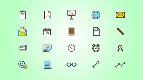 Business IT Icons Pack After Effects Template