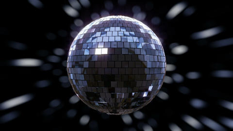 Disco Ball shimmering and rotating loop Animation