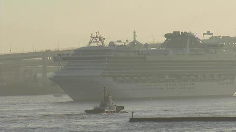 SAPPHIRE PRINCESS 横浜入港 02 Footage