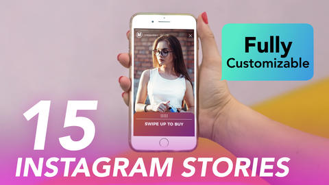 Instagram Swipe Up Stories Plantillas de Motion Graphics