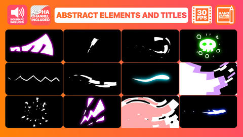Abstract Elements And Titles Motion Graphics Template