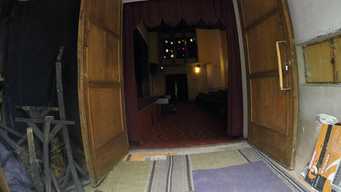 Flying into the the theatre through the side door Live Action