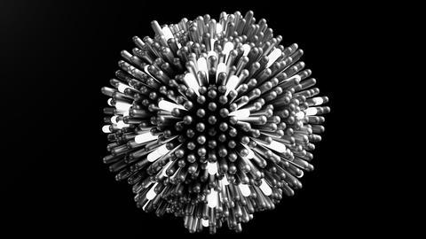 4K Futuristic Molecular Structure Footage