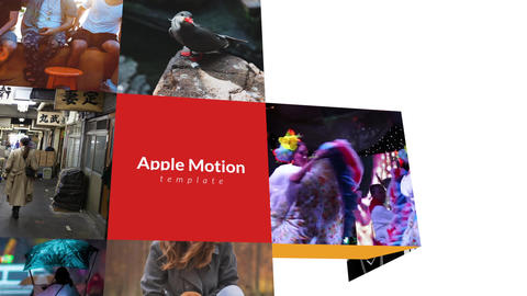 Folding Logo Apple Motion Template