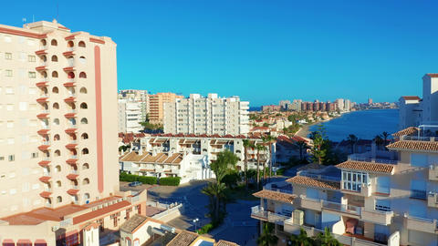 Aerial view. Panoramic view La Manga del Mar Menor, Cartagena, Murcia, Spain Archivo