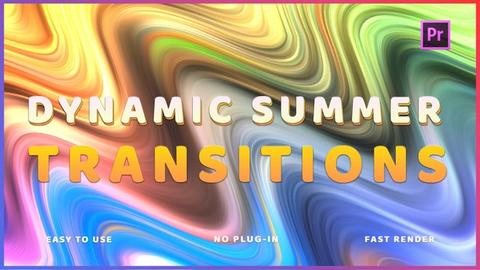 Dynamic Summer Transitions Premiere Pro Template