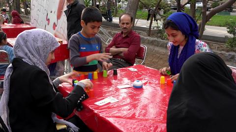 Tehran, Iran - 2019-04-03 - Street Fair Entertainment 21 - Children Stacking Live Action