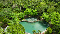 Bura Soda Water Swimming Pool. Camiguin, Philippines Footage