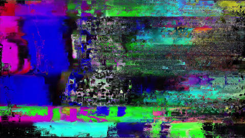 Bad Old TV Station Off Air Analog Glitch Download Animation