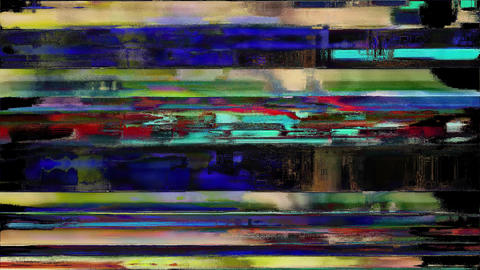 Colored Noise Digital Grunge Glitch Damage Evolution Animation