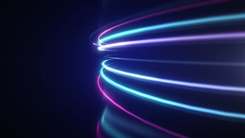 Abstract neon light streaks motion background Animation