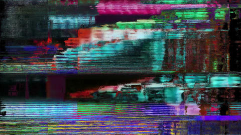 Slide Glitch TV Static Noise Distorted Signal Problems Animation