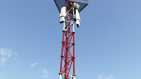 5G Telecommunication Tower Antennas 8 Animation