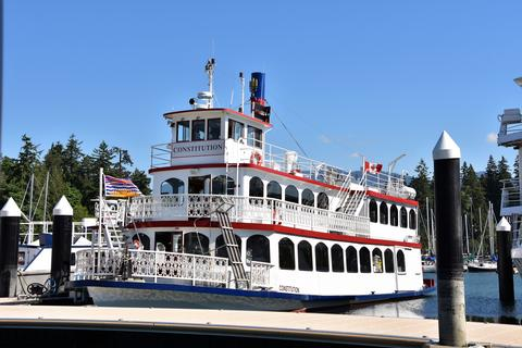 A paddle wheeler ship Photo