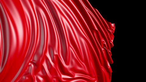 Red cloth in motion Animation