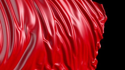 Red cloth in motion Stock Video Footage