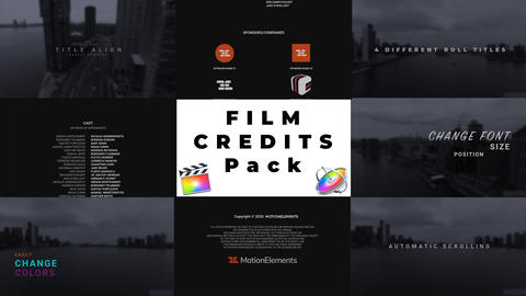 Film Credits Pack for FCPX Apple Motion Template