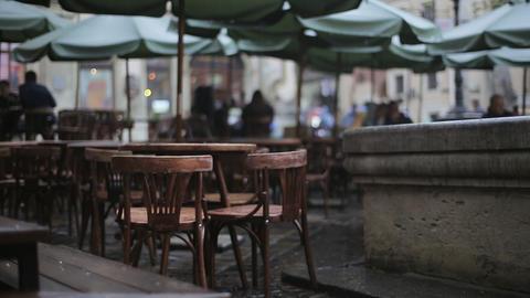 Moody Rainy Cafe Footage