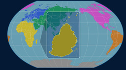 Mauritius (Kavrayskiy VII). Continents Animation