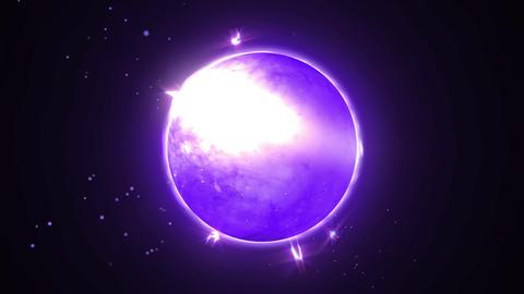 Blue light animation, Comic style, Sphere CG動画