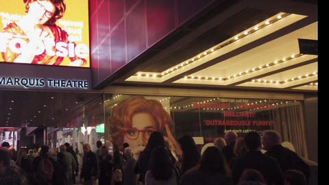 New York City, New York - 2019-05-08 - Broadway 4 Tootsie Theater Marquee Live Action
