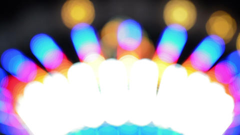 Defocused Bokeh Lights And Lens Flare, Abstract Light Background Footage