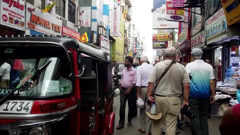 Colombo, Sri Lanka - 2019-03-21 - Heavy Mixed Traffic On Road Footage