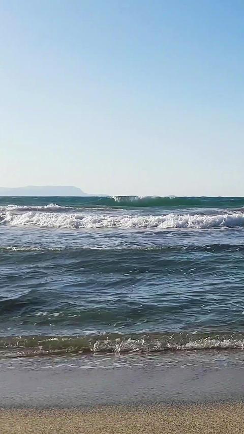 Crete Island Beach VERTICAL 01 1080 24 Footage