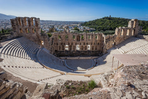 View of Odeo of Herod Atticus, Athens Acropolis Photo