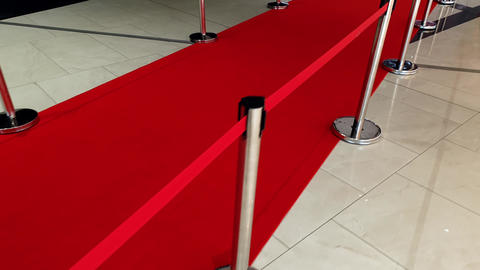 4k video of long red carpet and barriers on movie or theater awards Live Action