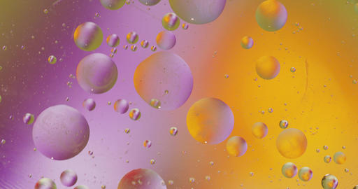Fantastic structure of colorful bubbles. Chaotic motion. Abstract background Footage