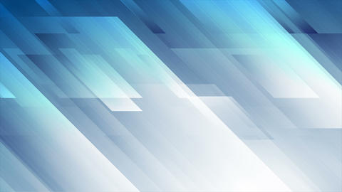 Bright blue abstract hi-tech geometry video animation Animation