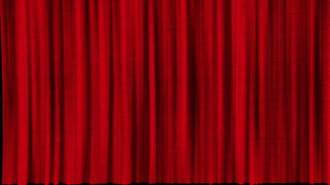 Several options for opening red curtains with texture. Set the opening package of theater curtains Animation