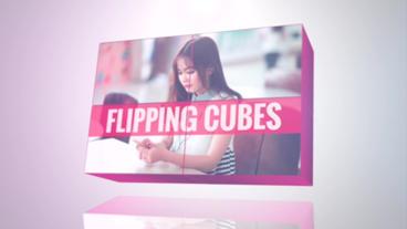 Flipping Cubes Apple Motionテンプレート