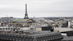 Eiffel Tower and Paris Cityscape Footage