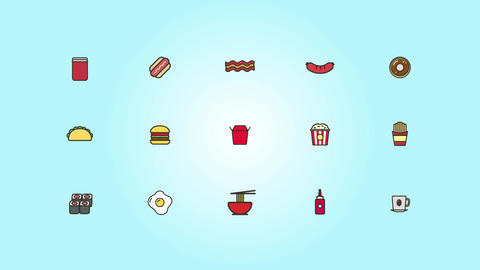 Food Icons Pack 2 After Effects Template
