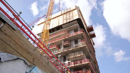 Low Angle View of Residential Tower under Construction Footage