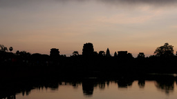 TIMELAPSE Dawn At Angkor Wat With Cloud,Siem Reap,Cambodia stock footage