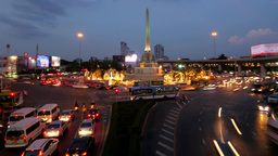 TIMELAPSE Victory monument roundabout traffic ,Bangkok,Thailand Footage