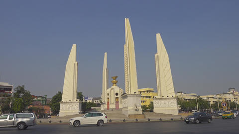 The Democracy Monument in Bangkok Footage