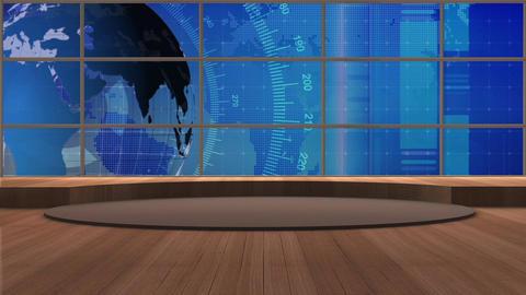 News TV Studio Set 174 - Virtual Background Loop Footage