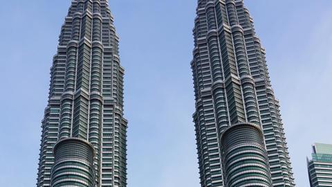 Petronas Twin Towers at Kuala Lumpur Footage
