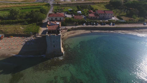 Around the tower, aerial view of Torre Mozza Footage