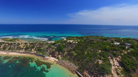 Aerial view of Point Nepean National Park, Australia