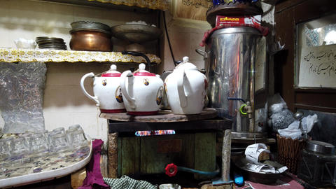 Hot Water is Heated Over Gas Stove to Make Tea Footage